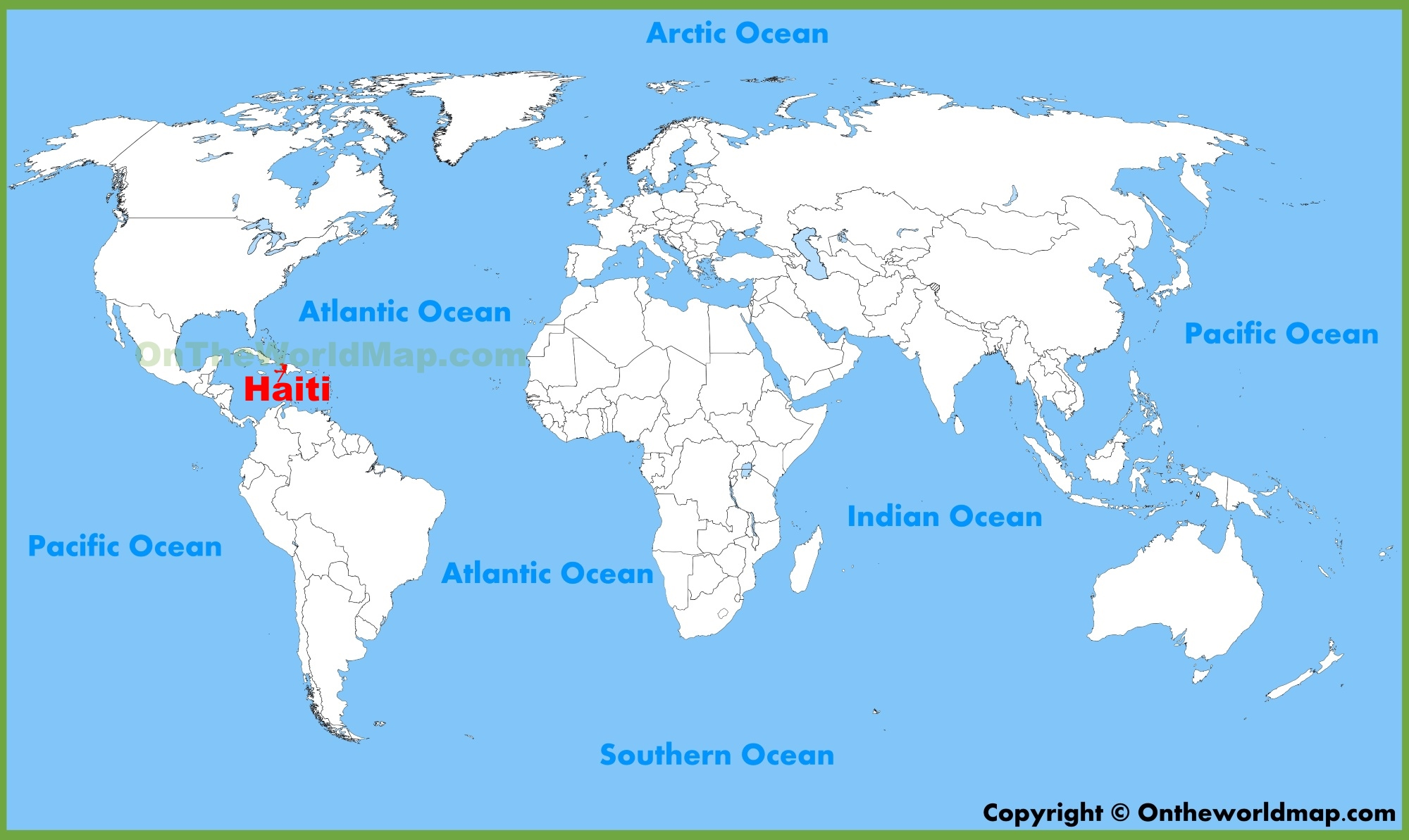 Where Is Haiti On The Map Haiti location on the World Map
