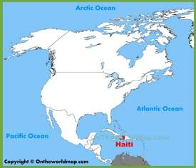 Haiti location on the North America map