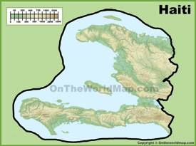 Haiti physical map