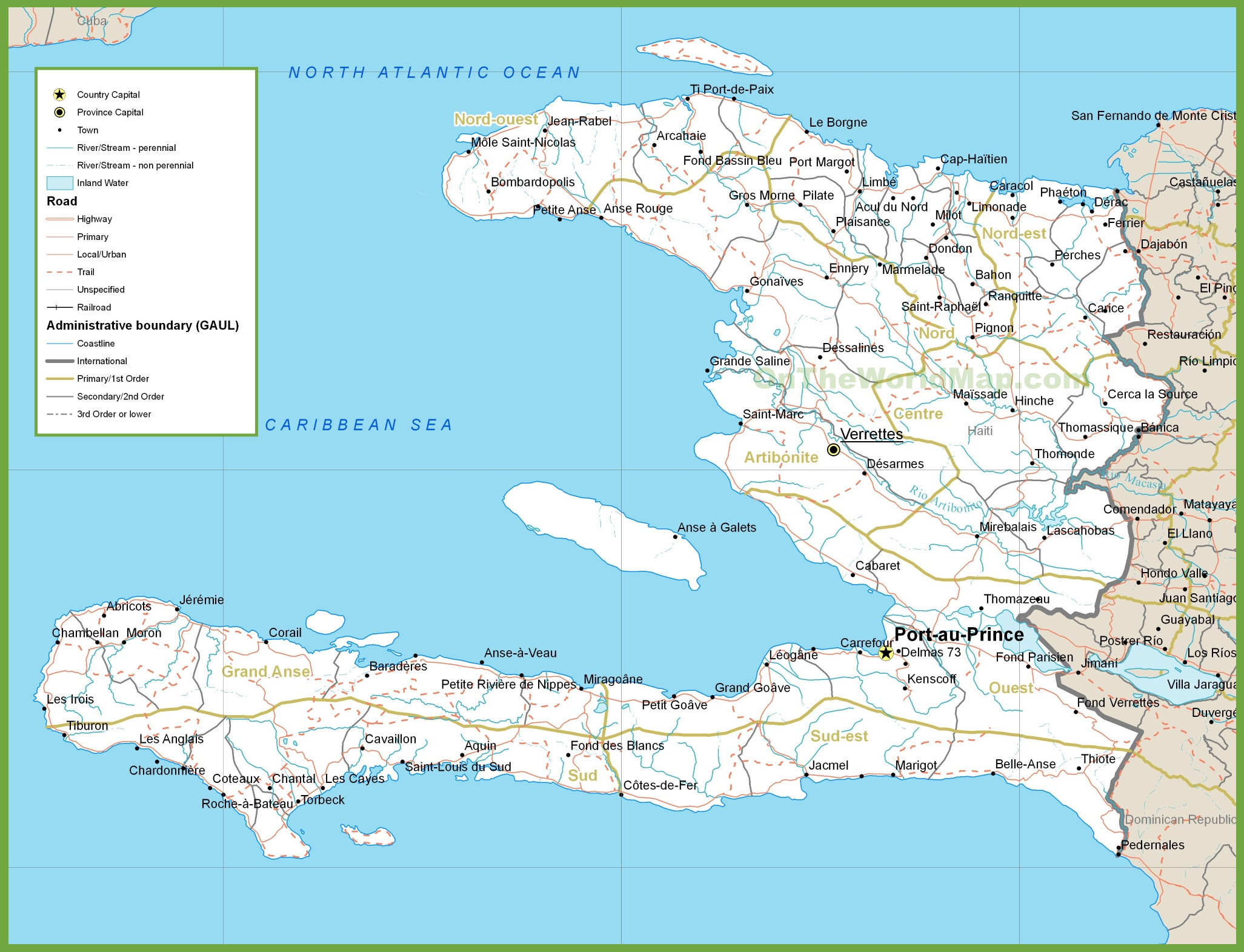 Haiti road map haiti road map gumiabroncs Choice Image