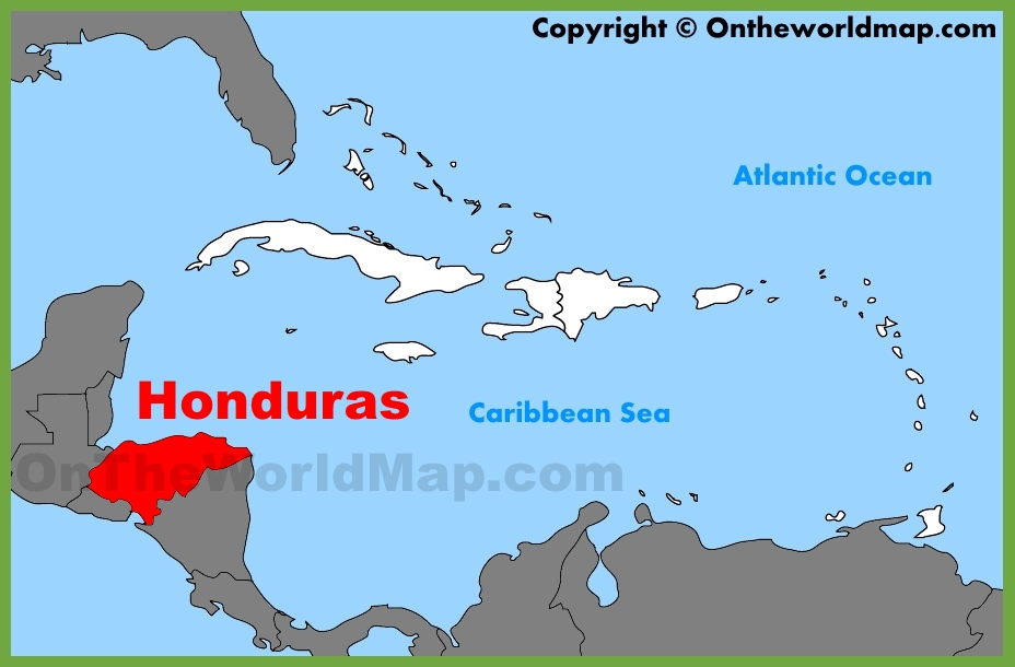 Honduras On A Map Honduras location on the Caribbean map Honduras On A Map