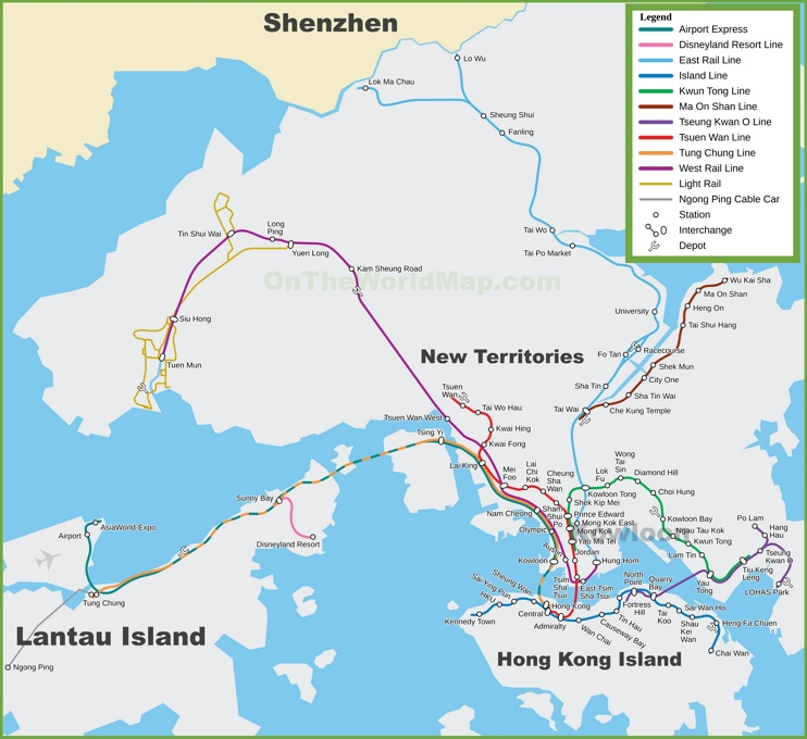 Hong Kong MTR map