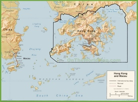 Hong Kong political map