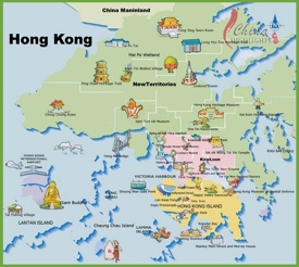 Travel map of Hong Kong