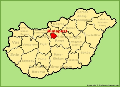 Where Is Budapest Hungary Located On The World Map | Map Of ...