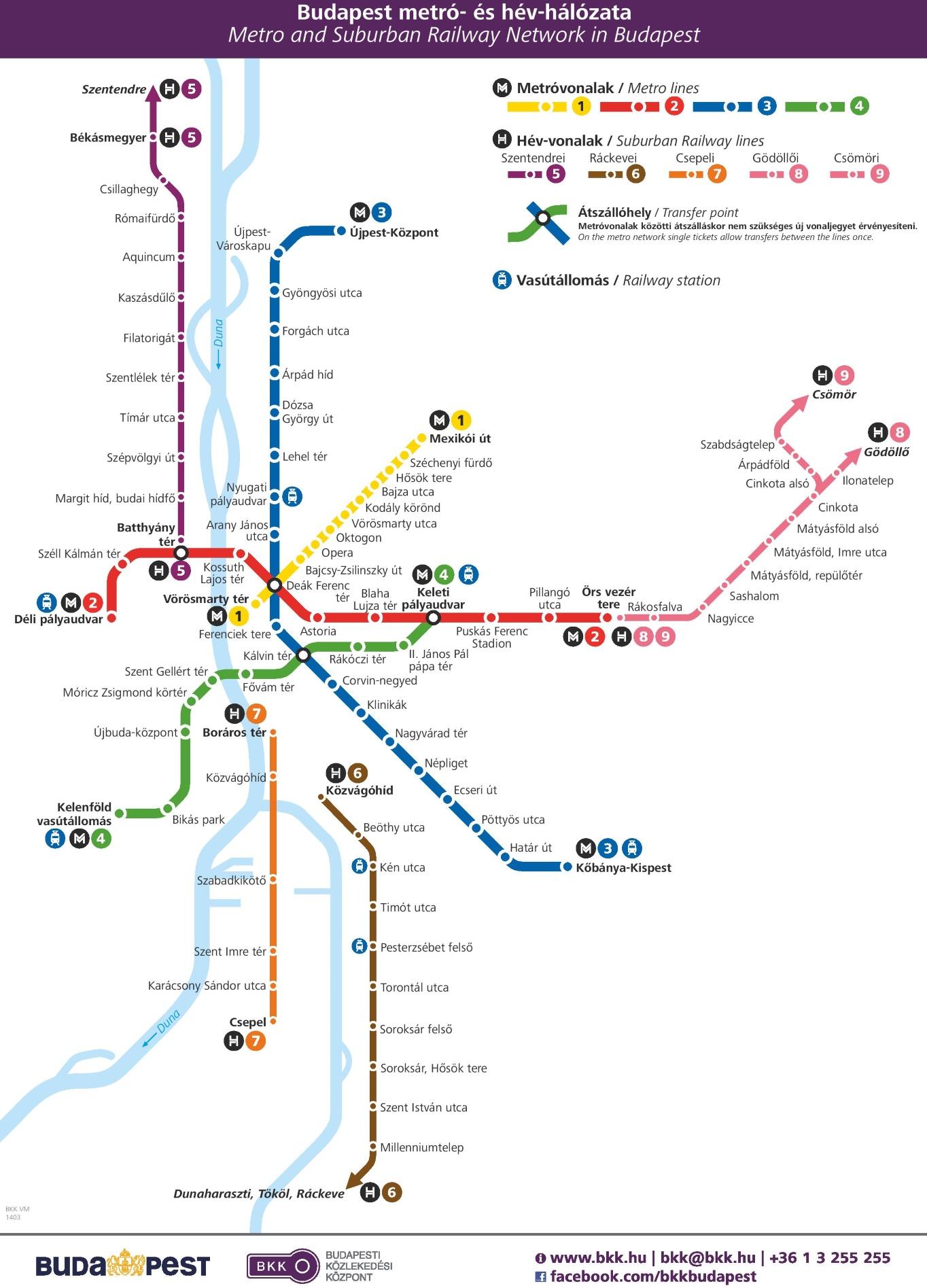 metro térkép bp Budapest trolleybus map metro térkép bp