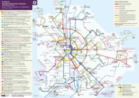 Budapest night transport map
