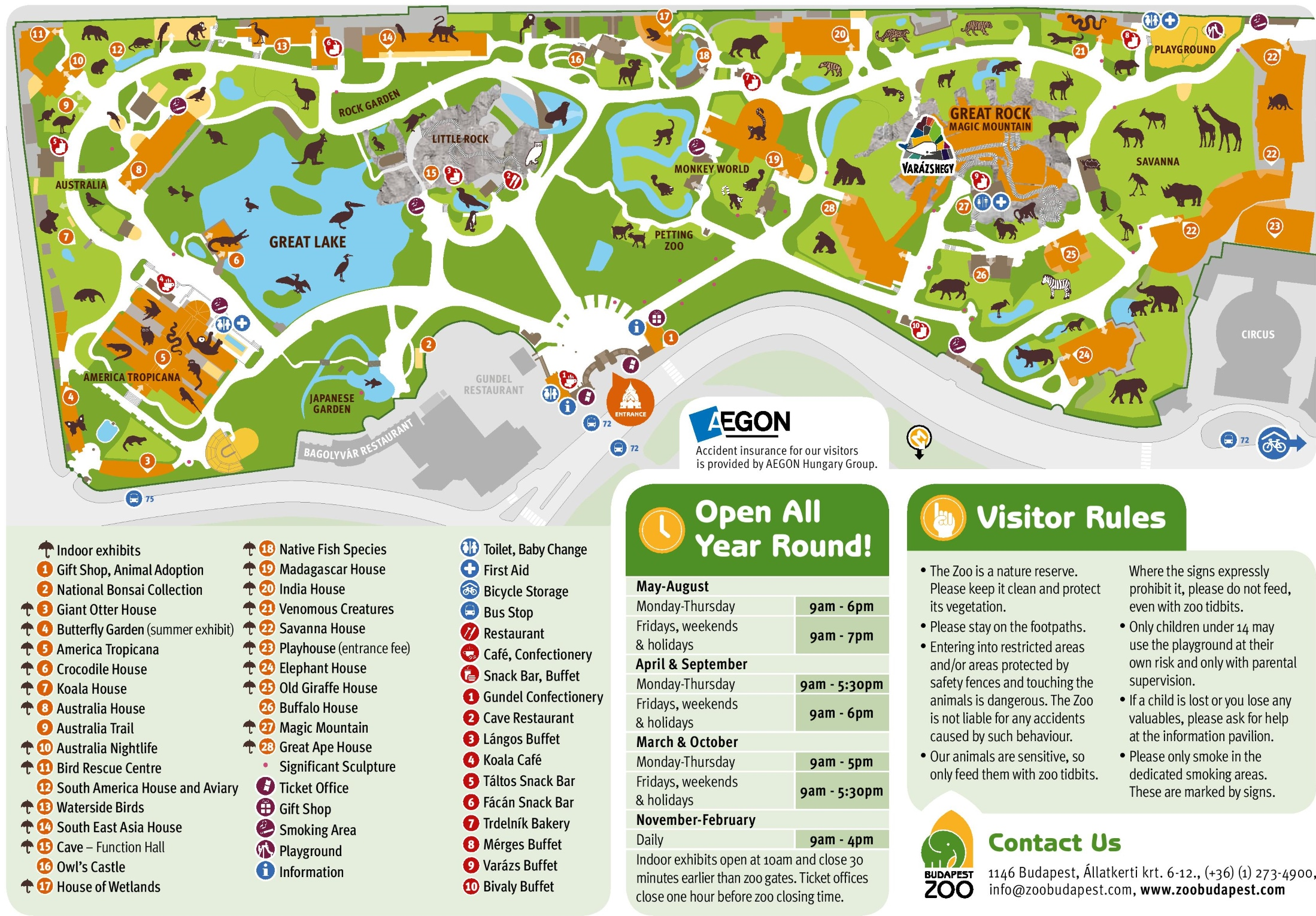 budapest zoo map