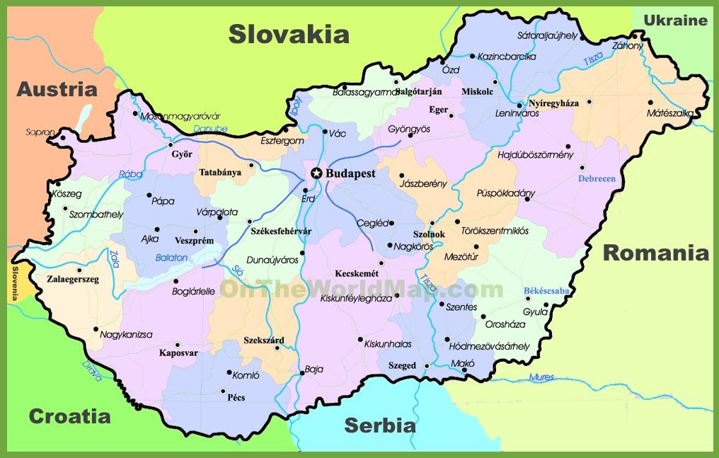 Hungary On Map Hungary political map Hungary On Map