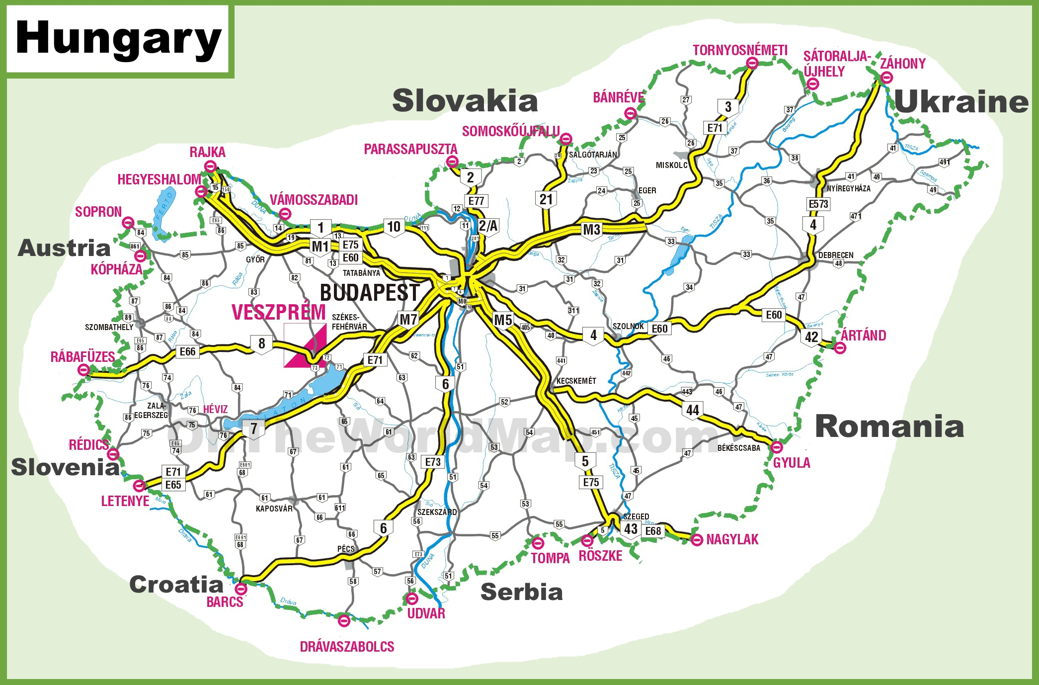 Hungary road map hungary road map gumiabroncs