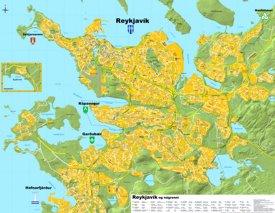 Detailed tourist map of Reykjavík