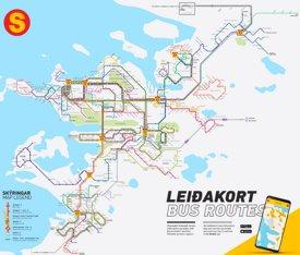 Reykjavík bus map