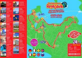 Reykjavík sightseeing map