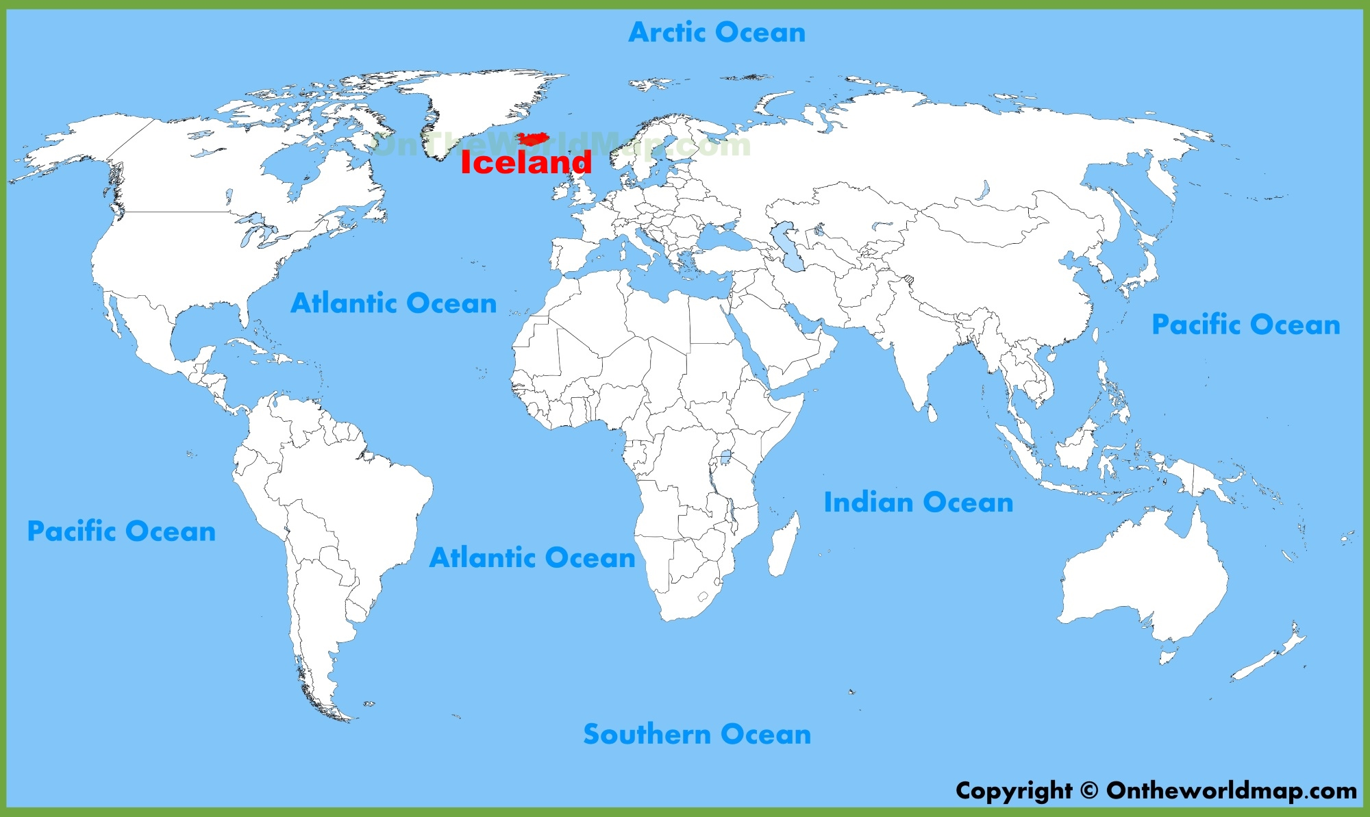 Iceland location on the World Map