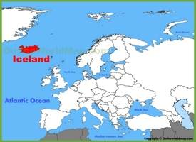 Iceland location on the Europe map