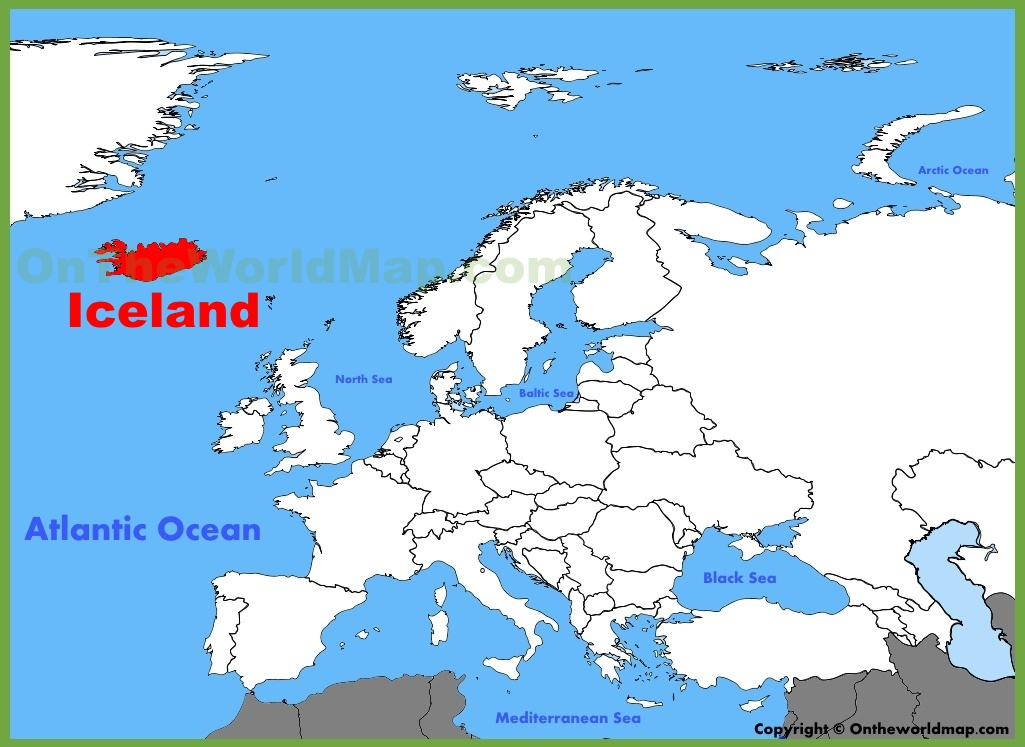 Iceland On Map Iceland location on the Europe map