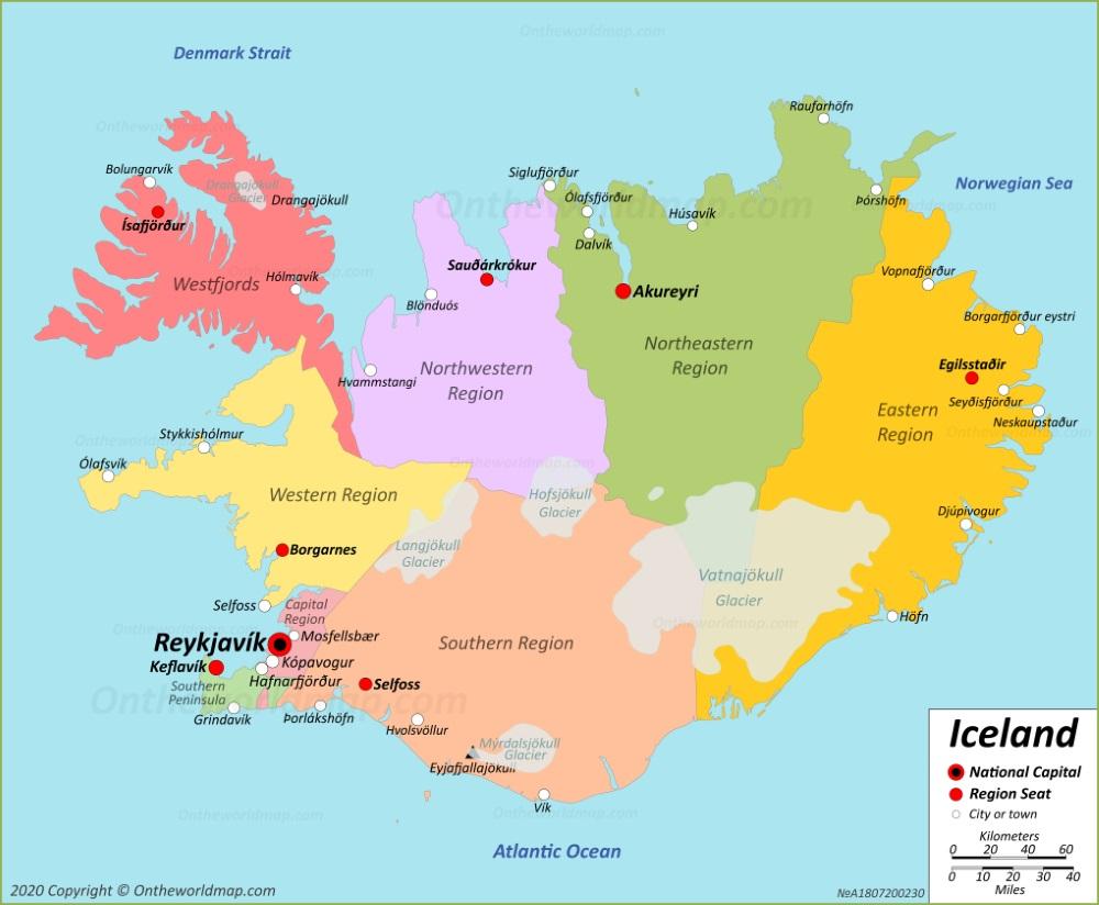 Iceland Map Maps Of Iceland