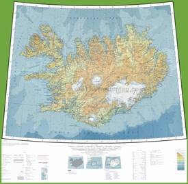 Topographic map of Iceland