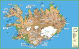 Travel map of Iceland