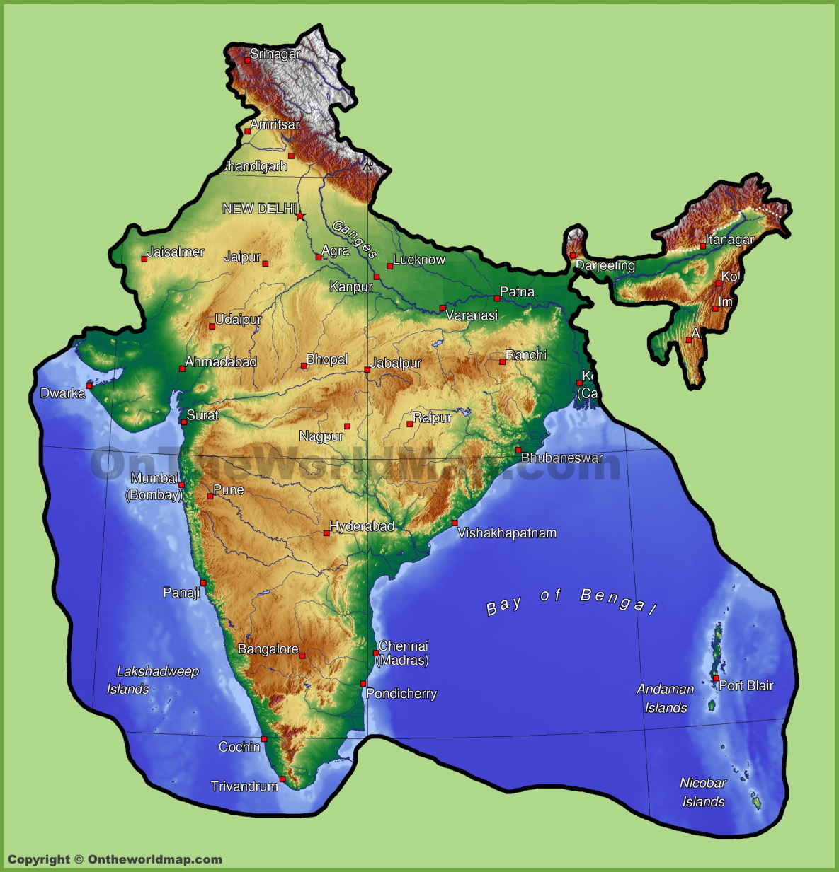 India Maps Maps Of India - India map