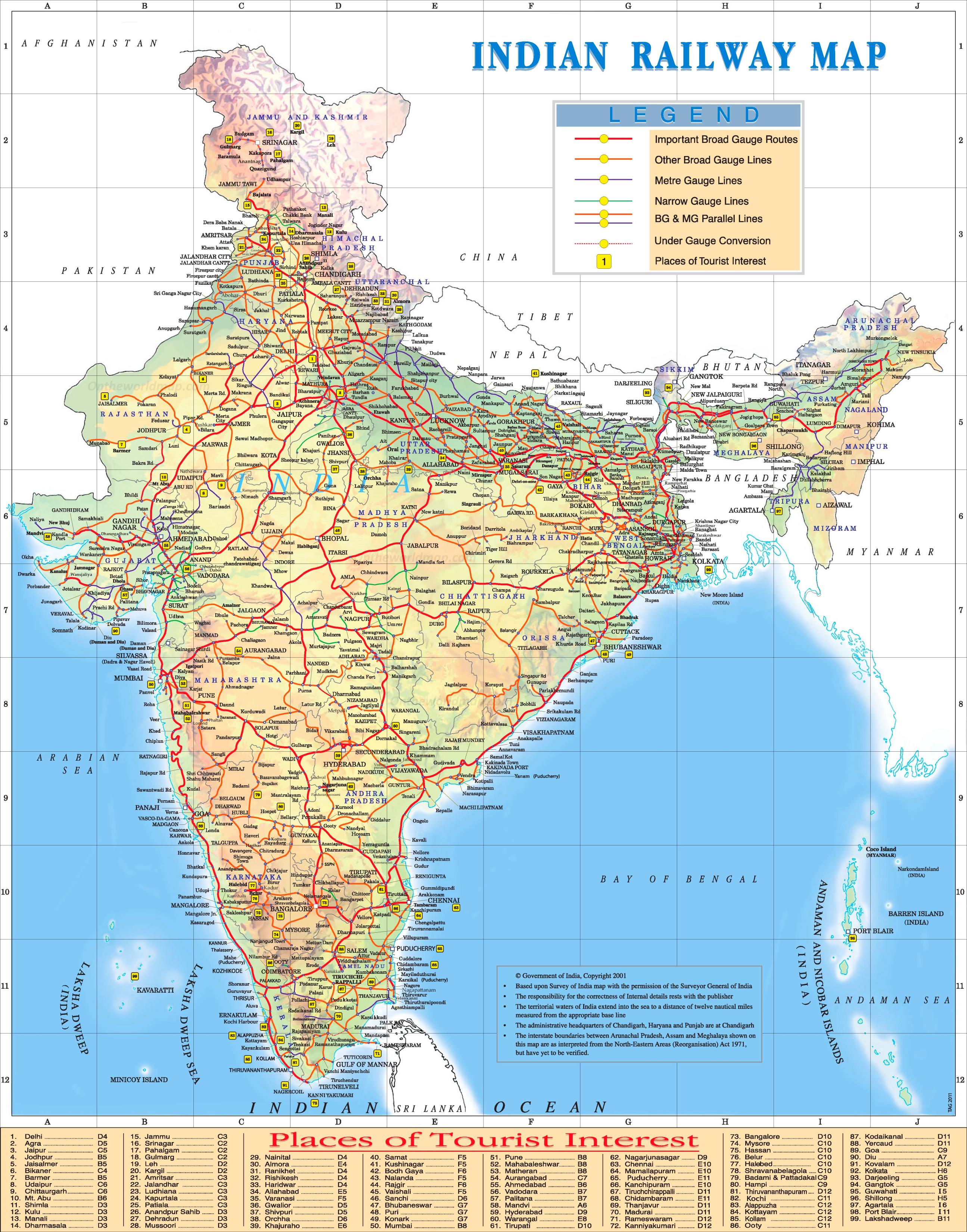 India maps maps of india india railway map gumiabroncs Choice Image