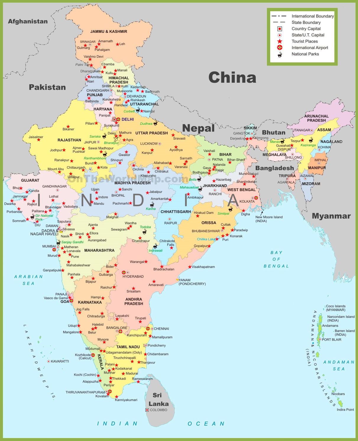 India maps maps of india india tourist map gumiabroncs Choice Image