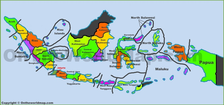 Administrative map of Indonesia