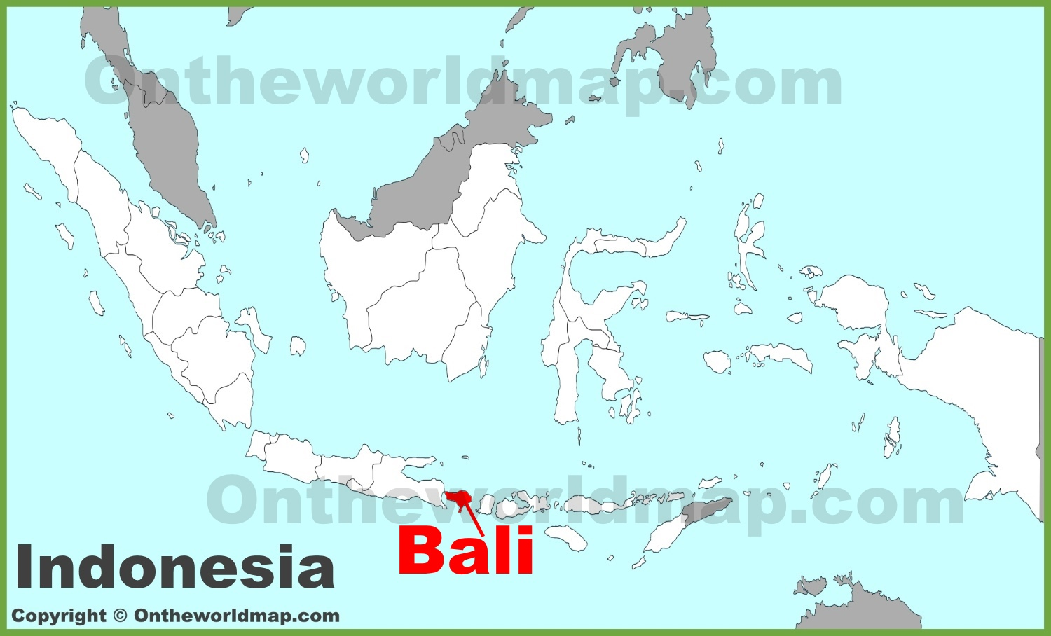 Bali location on the Ireland map