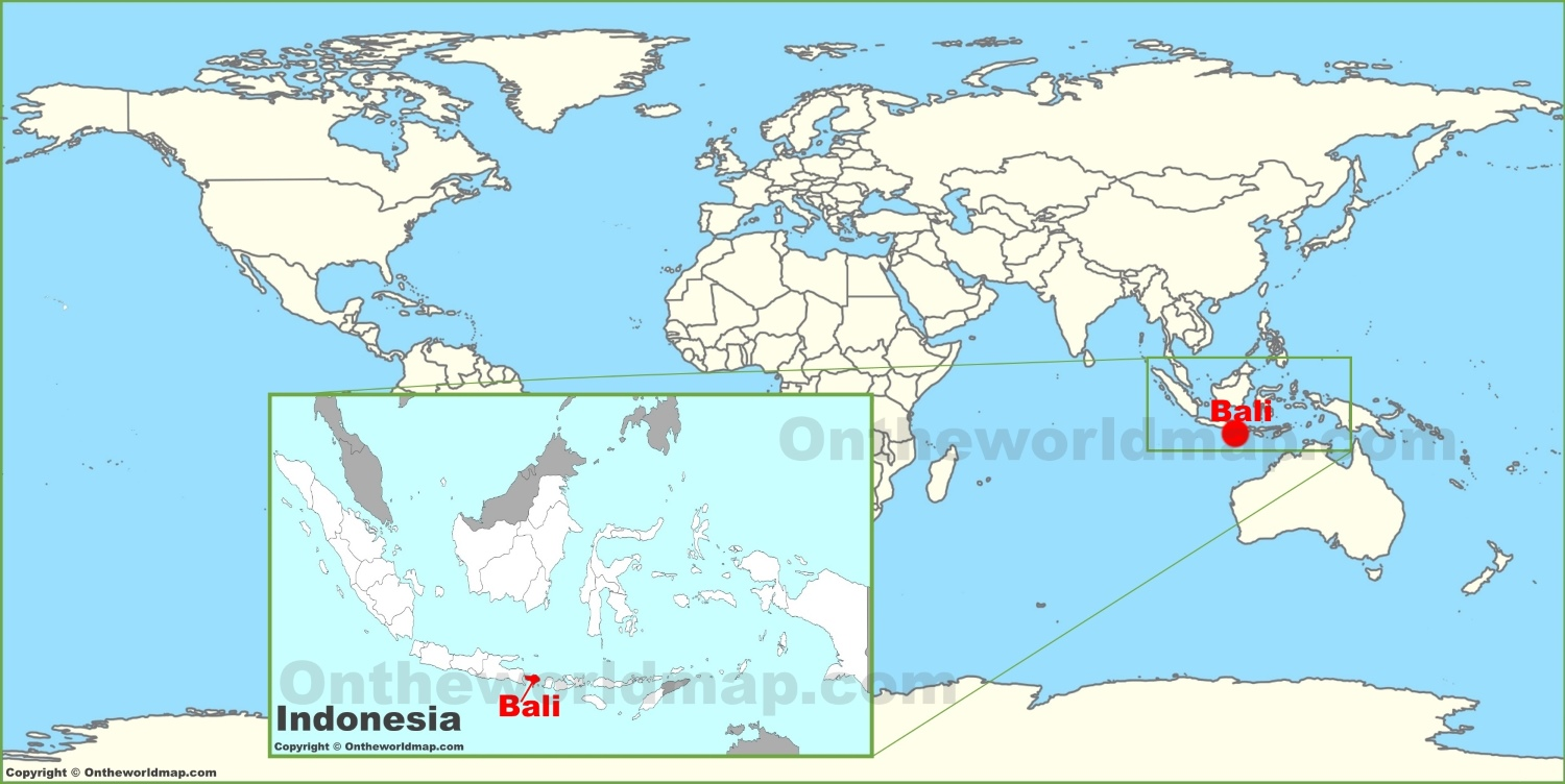 Bali On Map Bali on the World Map