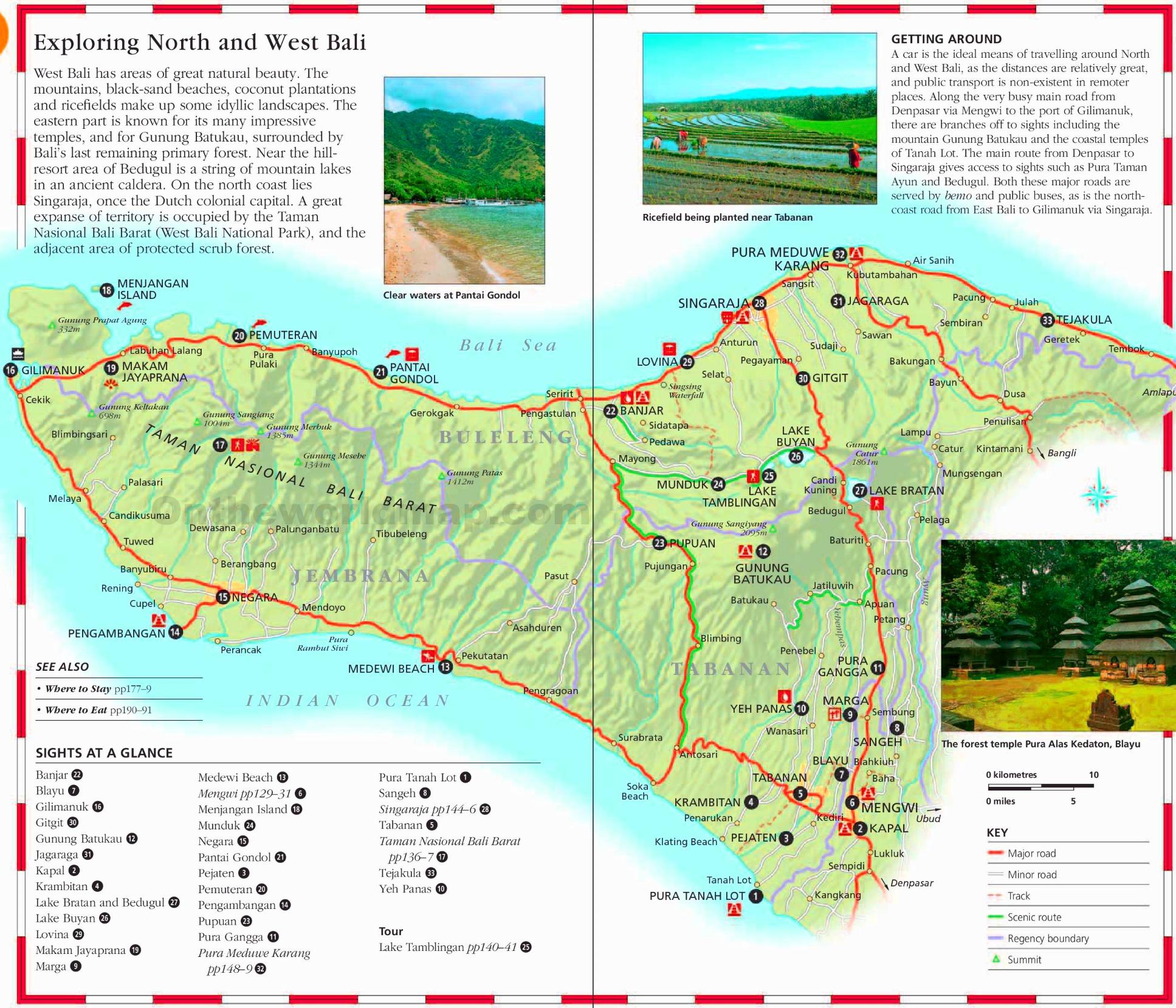 Bali Tourist Map Bali tourist map Bali Tourist Map