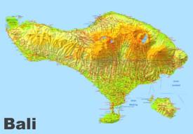Large detailed map of Bali