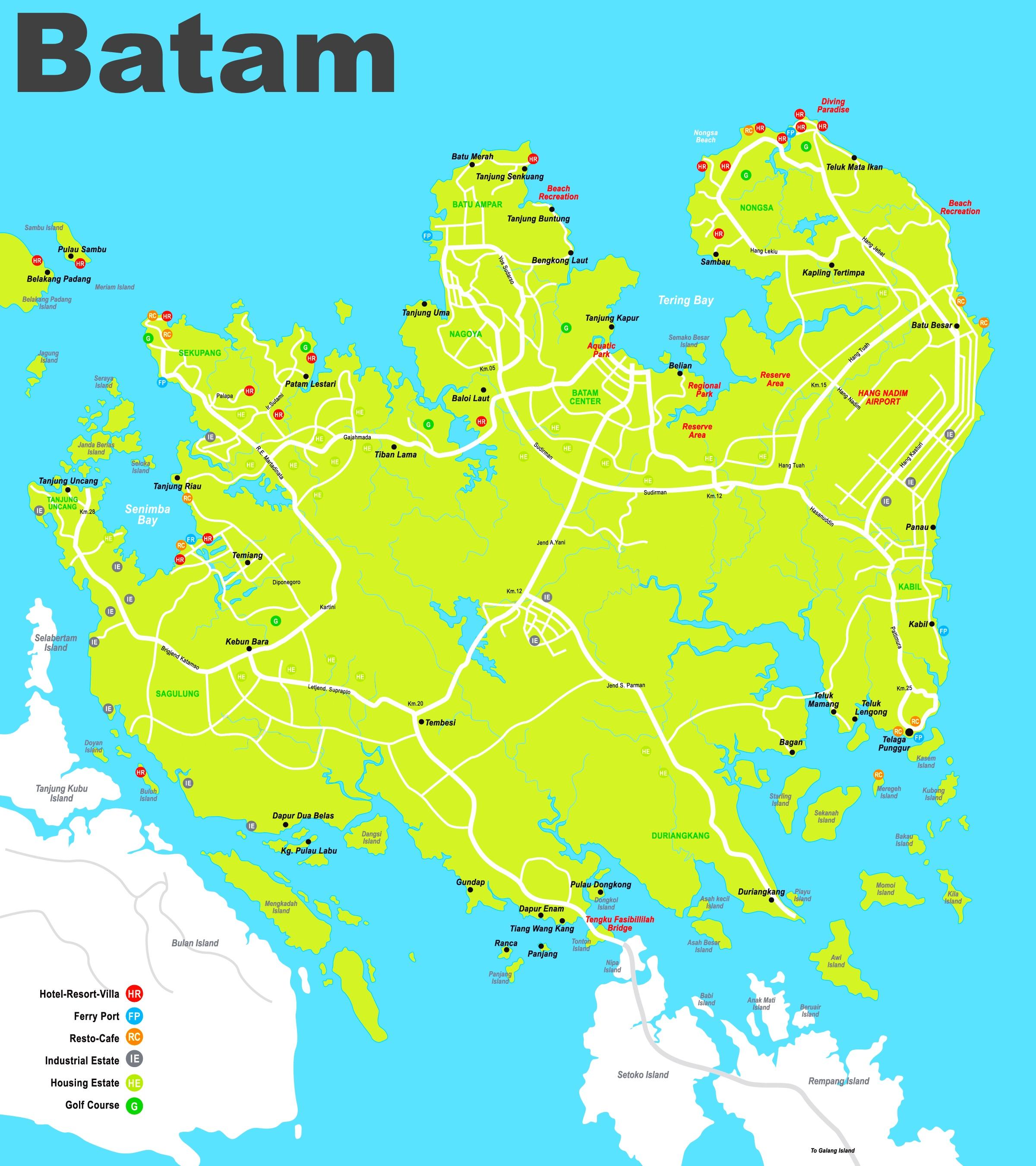 Batam hotel map