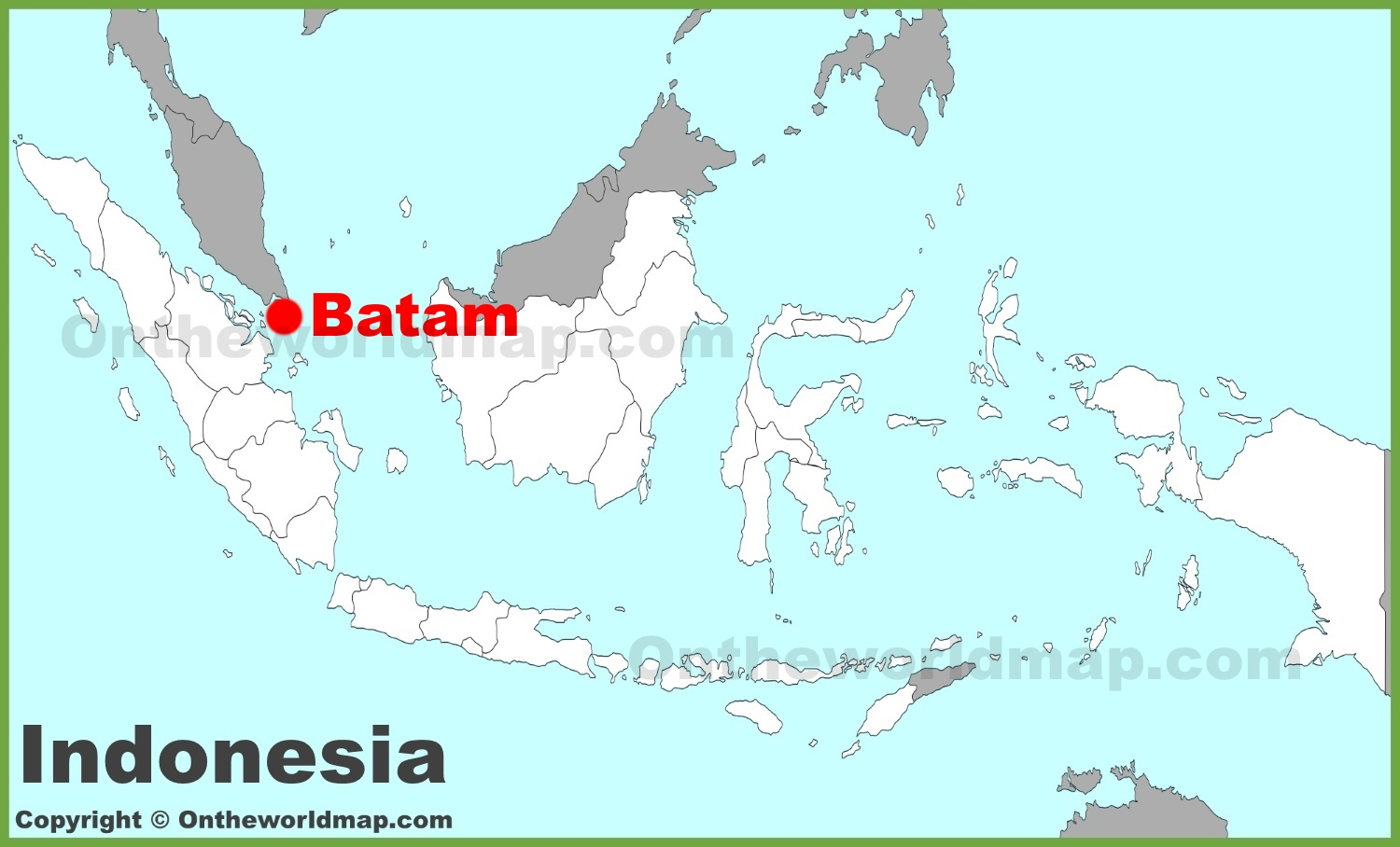 Batam location on the Indonesia map