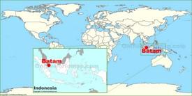 Batam on the World Map