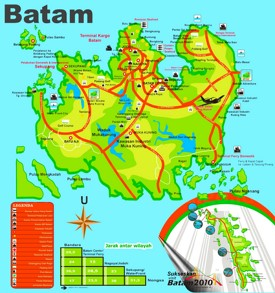 Batam tourist map