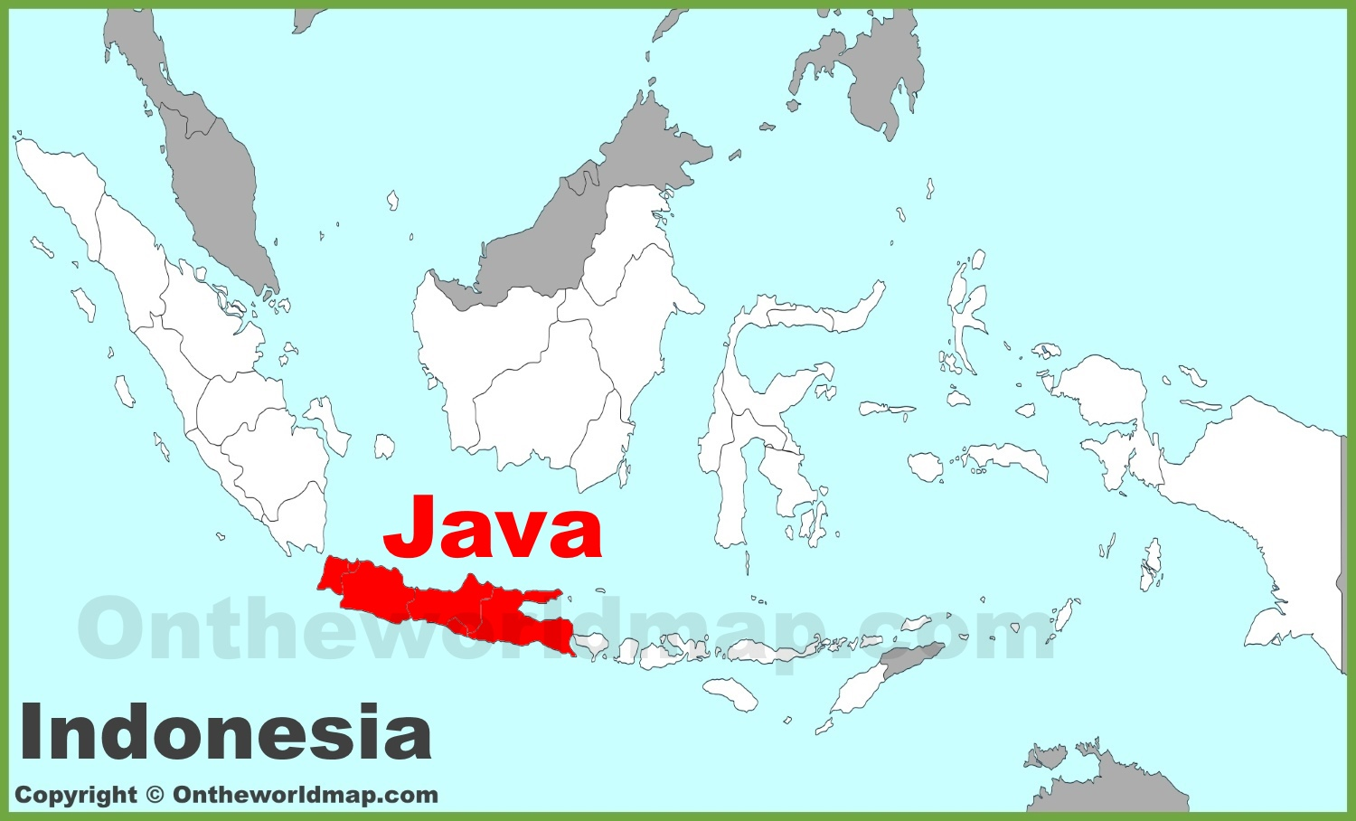 Java maps indonesia maps of java island full size java location map gumiabroncs Gallery