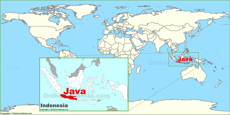 Map Java Island Java on the World Map