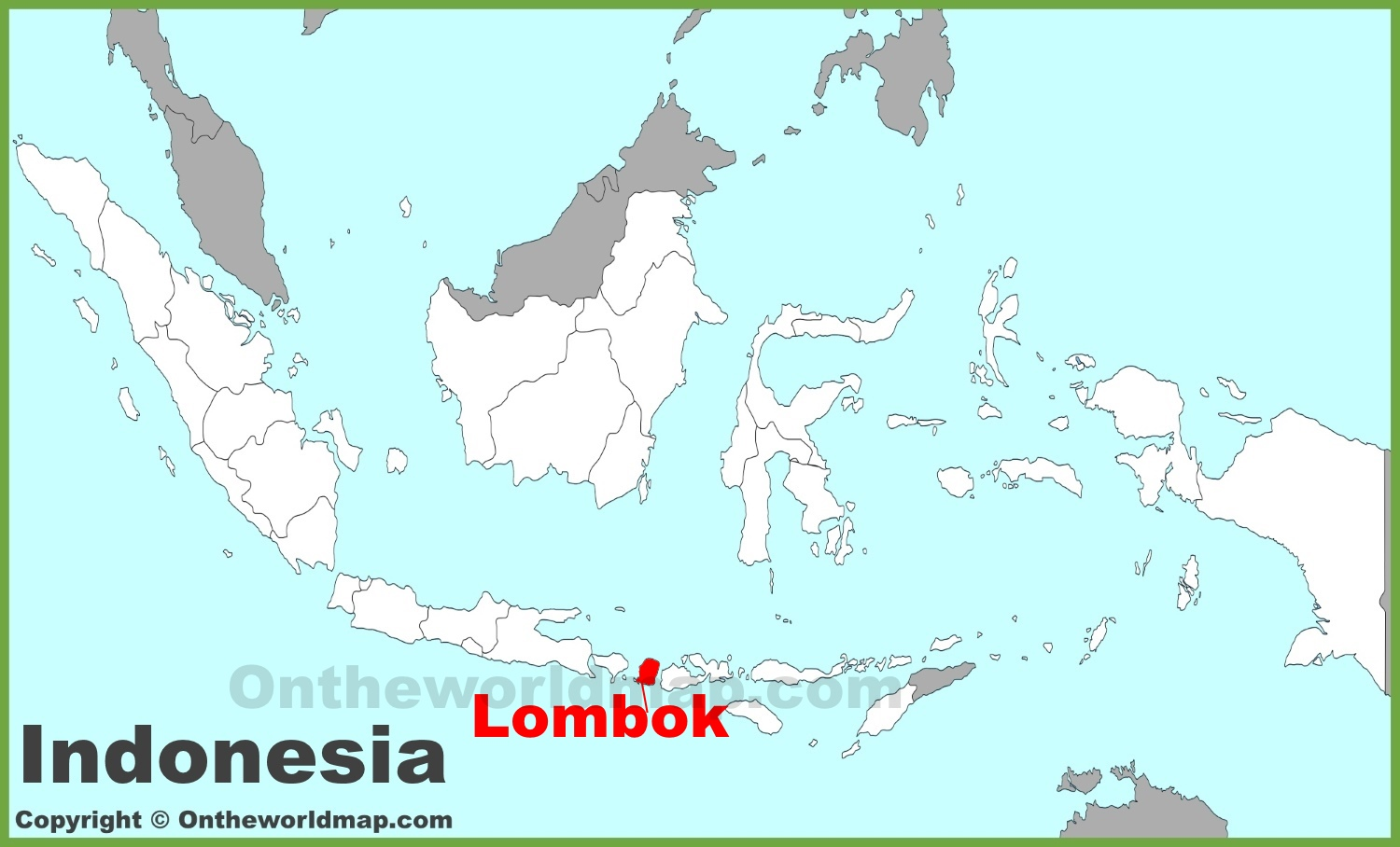 Lombok location on the indonesia map lombok location on the indonesia map gumiabroncs Gallery