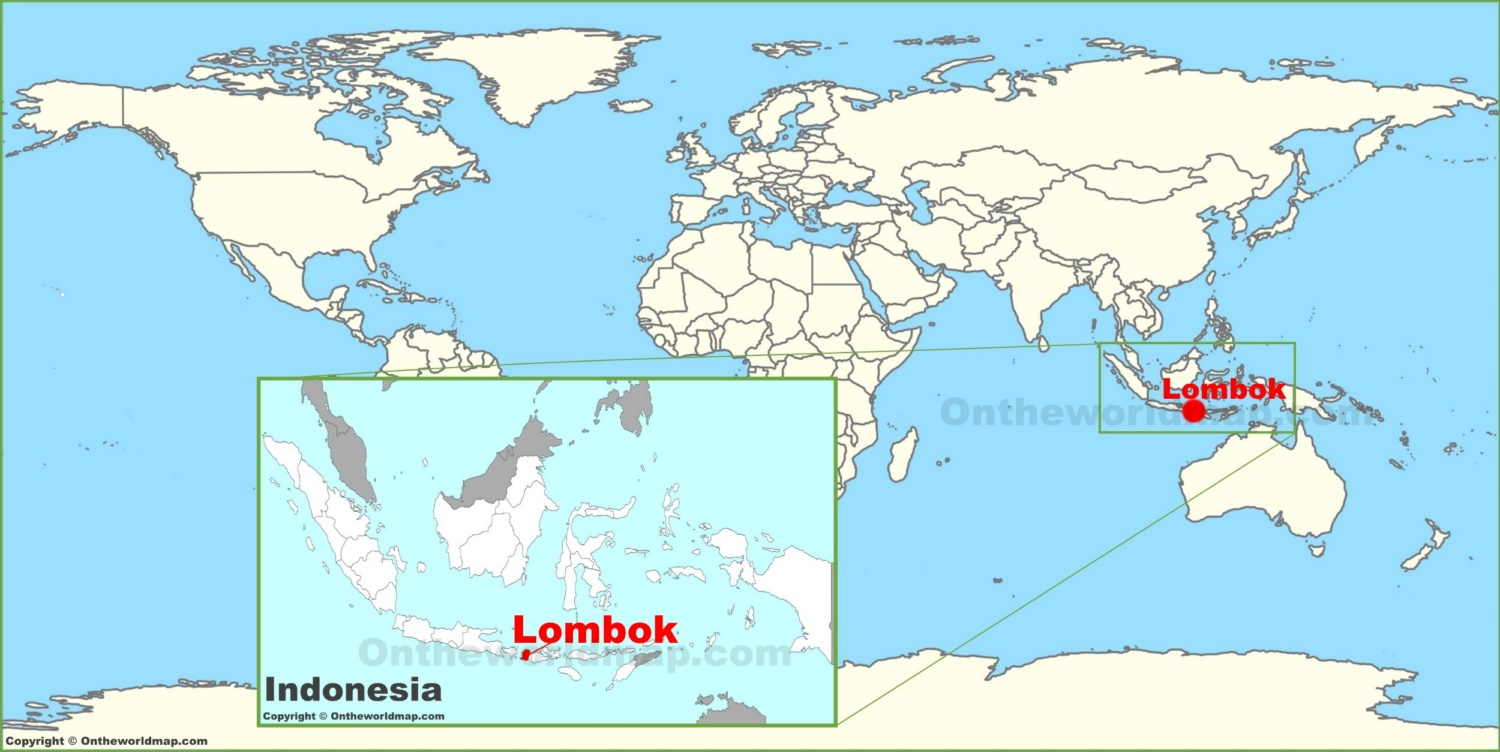 Lombok On The World Map