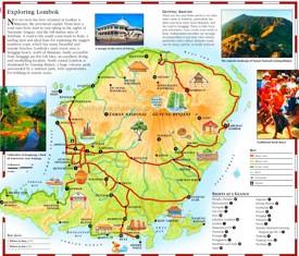 Lombok tourist map