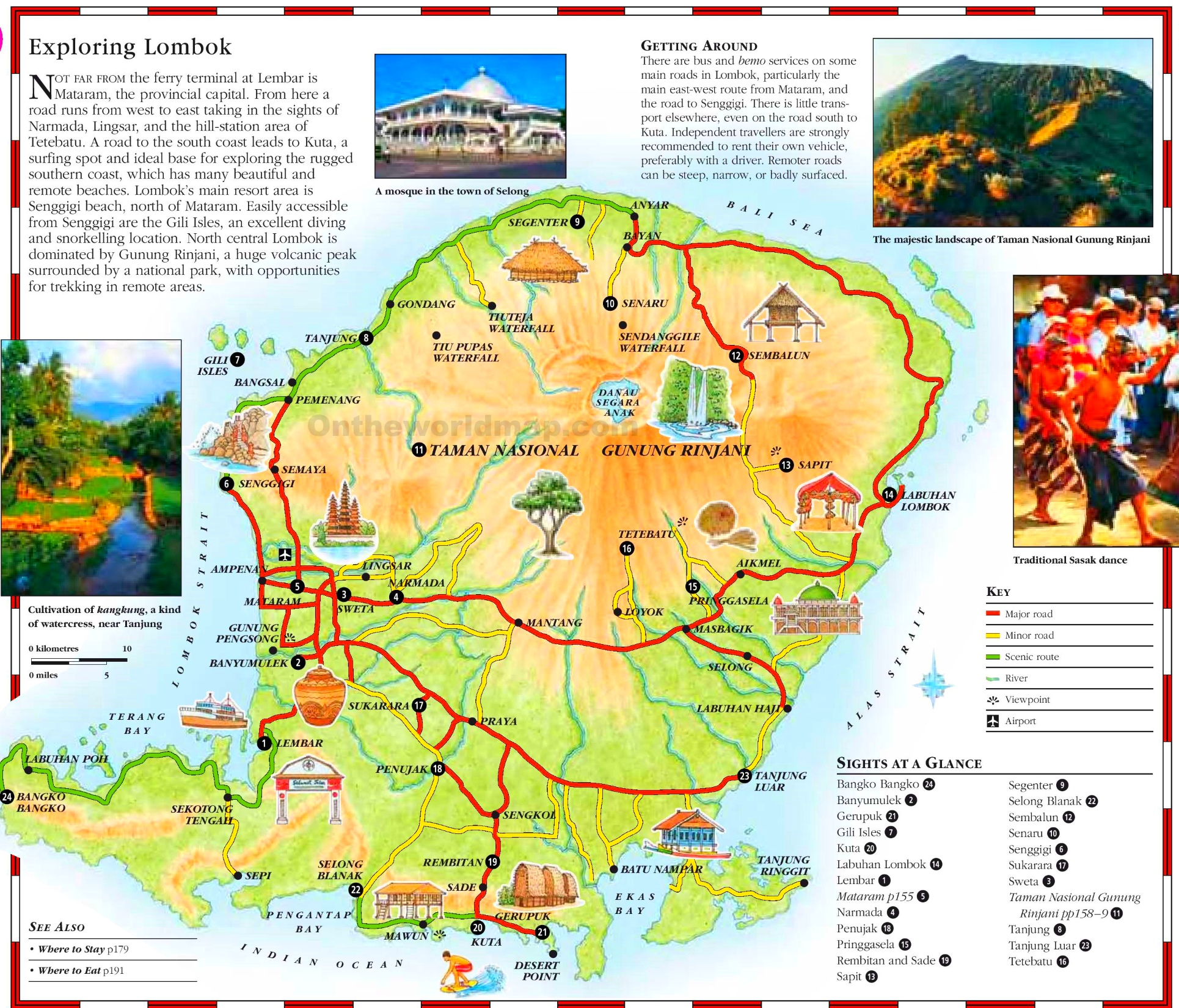 Lombok tourist map lombok tourist map gumiabroncs Image collections