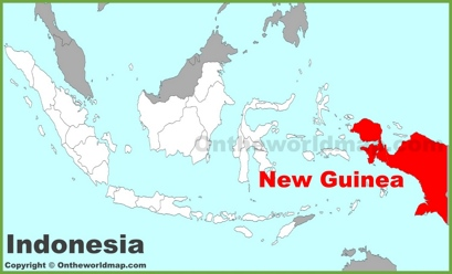 New Guinea Maps Indonesia Maps of New Guinea Island