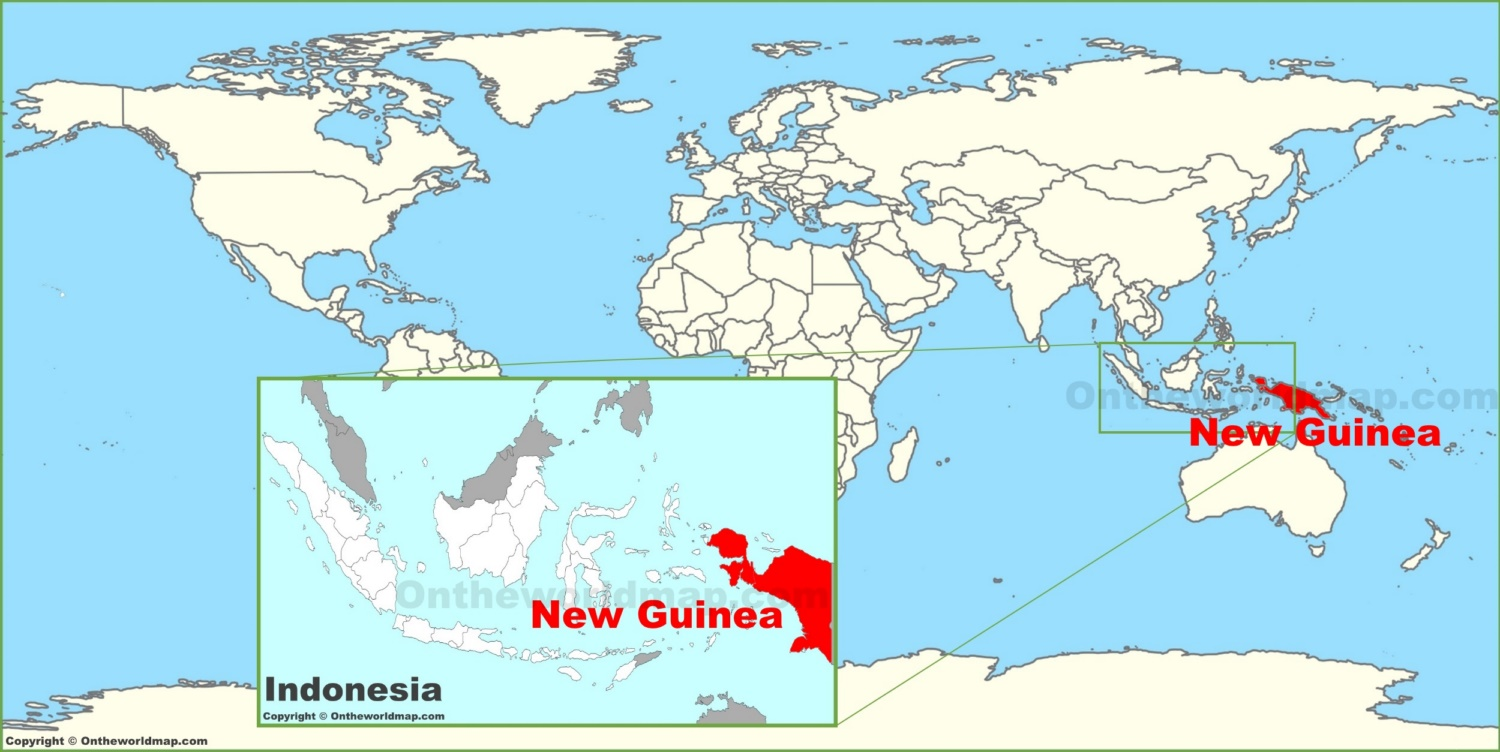 New Guinea Map New Guinea on the World Map