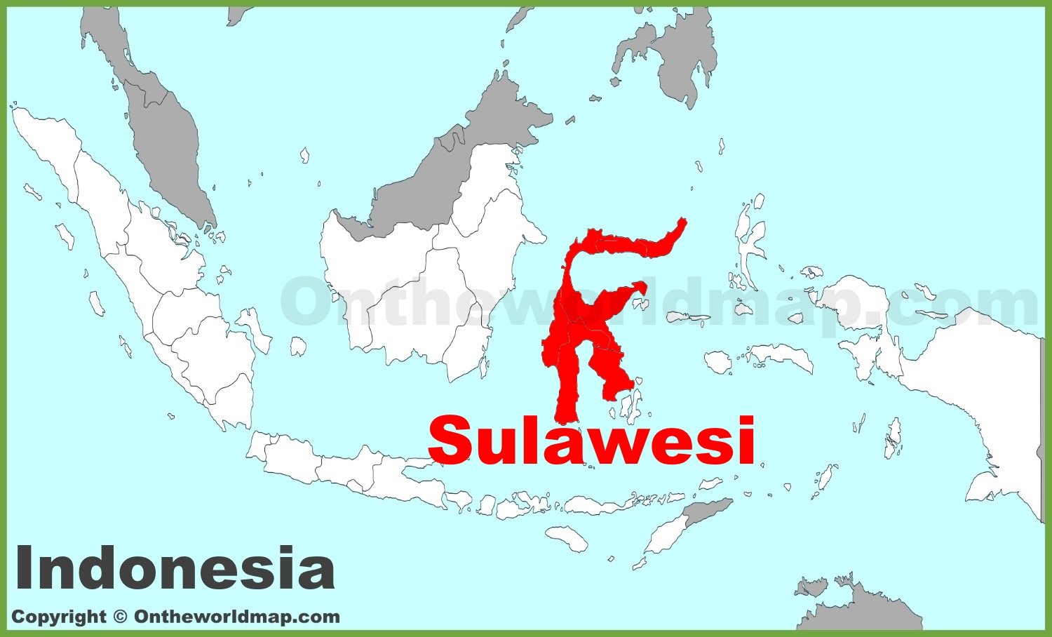 Sulawesi location on the Indonesia map on taiwan on map, cuba on map, brunei on map, nigeria on map, laos on map, kapuas river on map, guam on map, israel on map, iran on map, banda sea on map, mongolia on map, malaysia on map, bali on map, france on map, morocco map, vietnam on map, singapore on map, yellow river on map, korea on map, africa on map,