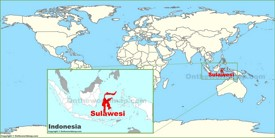 Sulawesi on the World Map