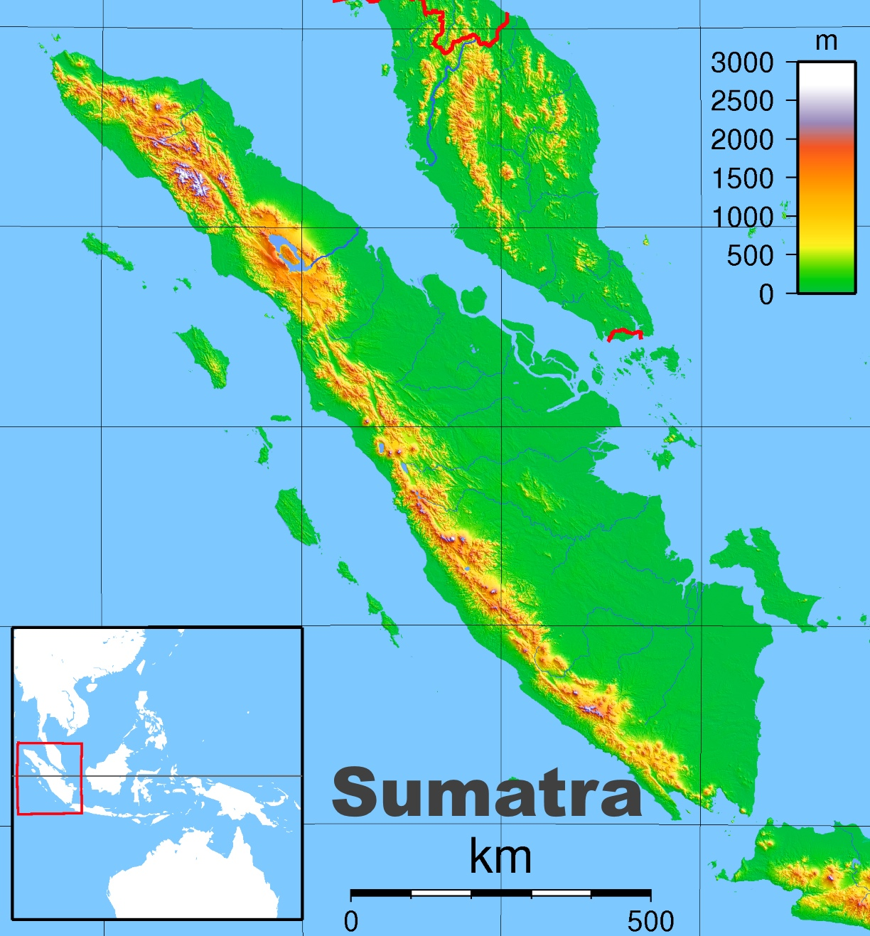 Sumatra physical map