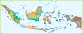 Map of ethnic groups in Indonesia