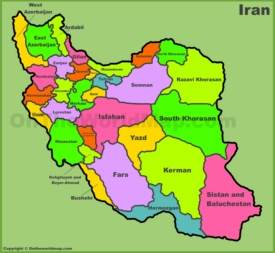 Administrative map of Iran