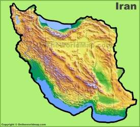 Iran physical map