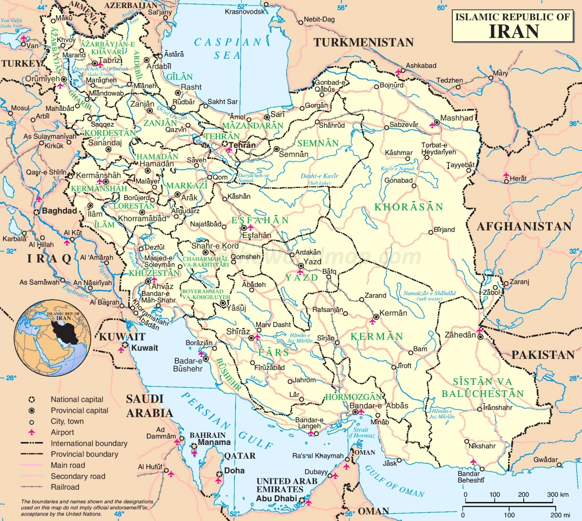 Iran Maps Maps of Iran